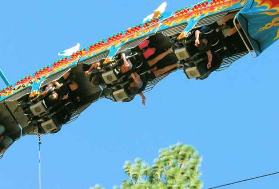 Upside down ride